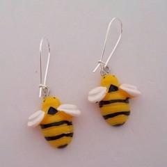 Resin bee earrings