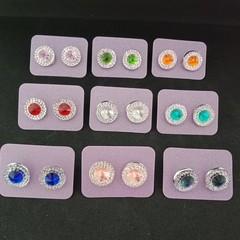 Bling crystal stud earrings