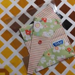 Handy Tea Bag Wallet & Scissor Holder gift set-Fresh floral