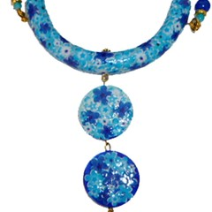 Shades of blue.Necklace