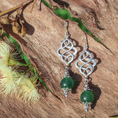 Emerald Green Catherine Earrings