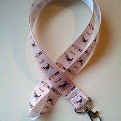 Beagle dog print lanyard / ID holder / badge holder