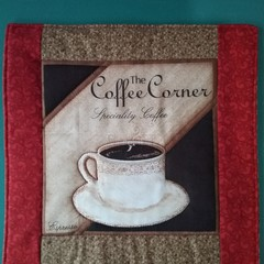 Table Saver for hot plates and pots / Coffee theme