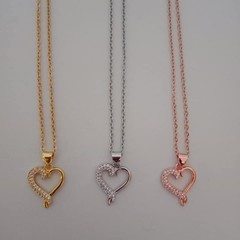 Bling crystal heart necklaces