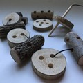 Toys of Wood - Natural wooden threading cookies