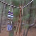 Delicate Purple Tassel Dangles