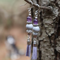 Delicate Purple Tassel Dangles