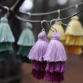 Cotton Tassel Earrings