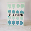 Happy Birthday Balloon Card, Mint and Aqua, Boys Birthday Card