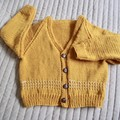 * SPECIAL* 4yrs: Hand knitted Cardigan, washable, unisex