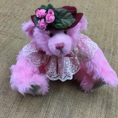Small Pink Acrylic Bear