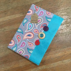 Fabric Covered Journal - Paisley Teal