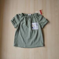 Size 5/Pocket Blouse/Boy Girl/Toddler/Baby/ -Rainy Days-Sweet pea