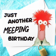 Meep Beaker Funny Birthday Card
