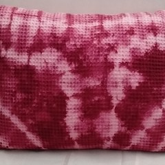 Burgundy Shibori  Cotton Oblong