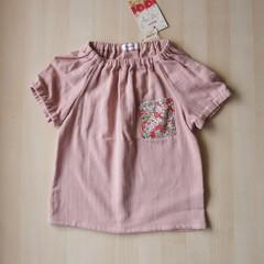 Size 5/Pocket Blouse/Boy Girl/Kids/Toddler/Baby/ -Liberty flower-Light Pink