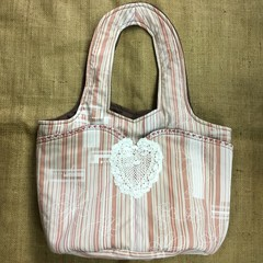 Fabric Shoulder Bag, Tote, Craft Bag with Pockets and Fully Lined