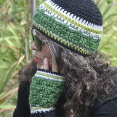 Crochet Beanie & Mitten Set