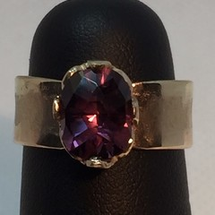 Gold Spinel Ring