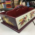 Wooden Hand Painted Kitchen Caddy