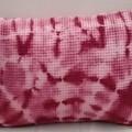 Burgundy Shibori  Cotton Oblong, XMas Gift for Home