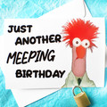 Meep Beaker Funny Birthday Card