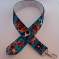 Blue dog print lanyard / ID holder / badge holder