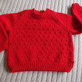 SIZE 4  -5 yrs  Hand knitted jumper  : Unisex, washable