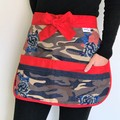 Half Apron Denim Cargo Roses Six pockets FREE POST!