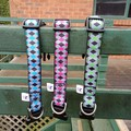 Bright triangle print adjustable dog collars