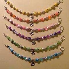 Butterfly charm beaded bracelets