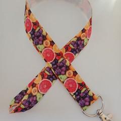 Bright fruit print lanyard / ID holder / badge holder