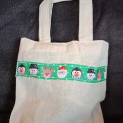 Christmas mini tote bag / Christmas gift bag