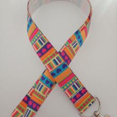 Bright heart pattern lanyard / ID holder / badge holder