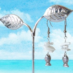 Books at the beach DIY Shell and fish earring Kit