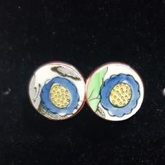 Indian Tree Rose Gold Earrings    #002
