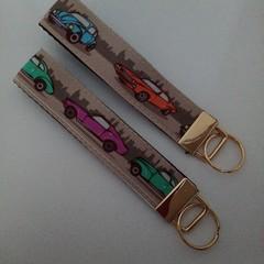 Car print key fob wristlets
