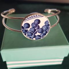 Blue Willow Cuff Bracelet    #001