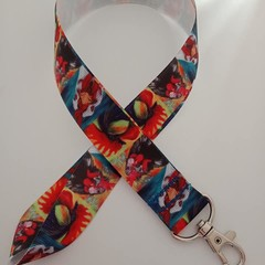 Chicken / rooster print lanyard / ID holder / badge holder