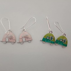 Campervan caravan charm earrings