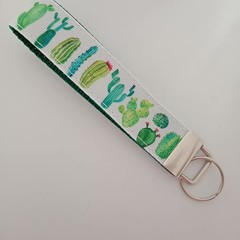 Cactus print key fob wristlet