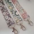 Clock / watch / steampunk print lanyards /ID holders / badge holders