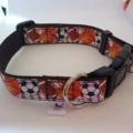 Brown football / soccer ball adjustable dog collars
