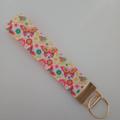 Butterfly print key fob wristlet