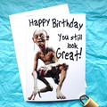 Gollum Lord of the Rings Funny Birthday Card
