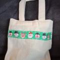 Christmas mini tote bag / Christmas gift bag