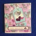 Handmade Anniversary Blank Card Cat Theme