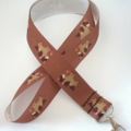 Brown horse print lanyard / ID holder / badge holder