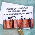 Funny Housewarming New House Congratulations Card