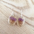 Purple Flower Dangles